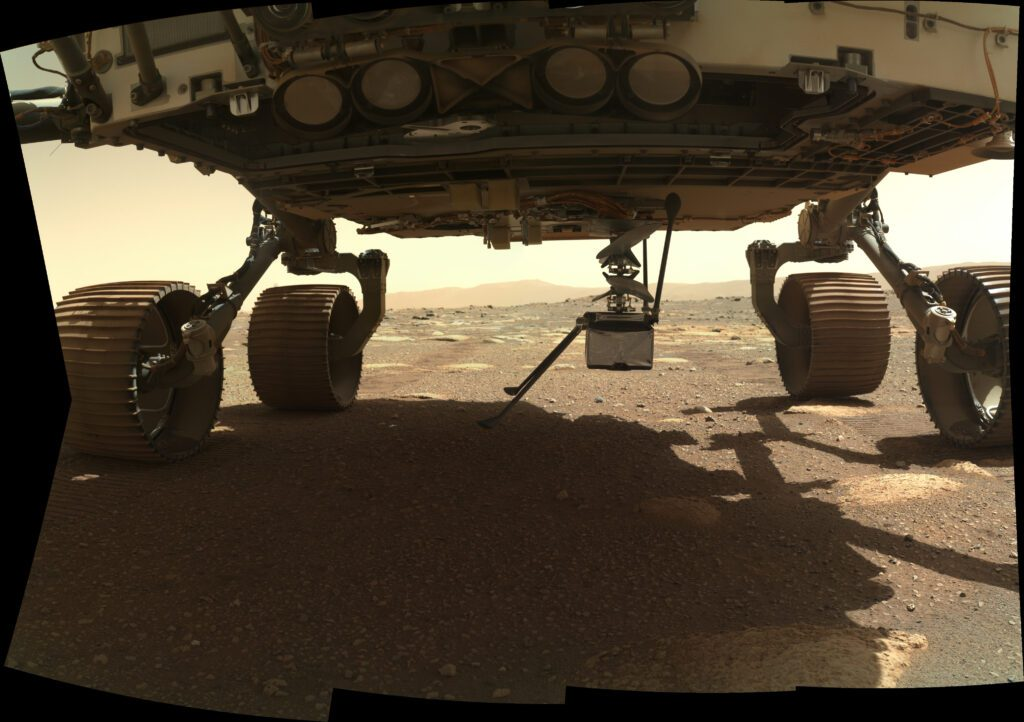 Perseverance rover on the surface of Mars